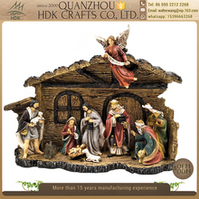 Wholesale holy family religious statues polyresin China nativity set
