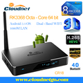 Hot Sell Cloudnetgo Octa core RK3368 2G RAM 16G ROM 1000M TBASE HDMI2.0 H.265 WiFi tv streaming box with Luxury Metal Housing