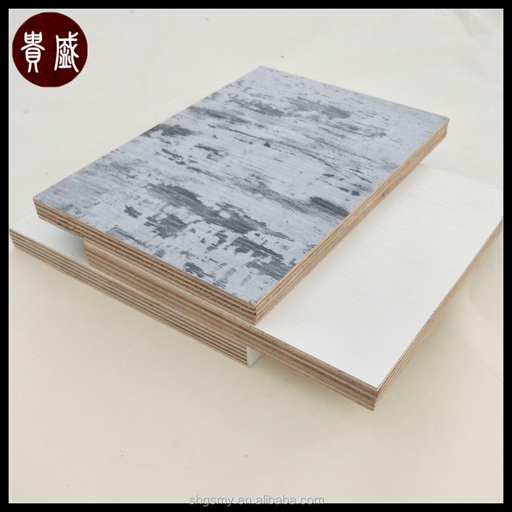 Trade Assurance 18mm double sided plywood board/melamine plywood with high quality