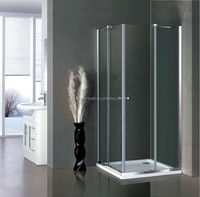 Hot 8mm Corner Tempered Glass lowes shower enclosures