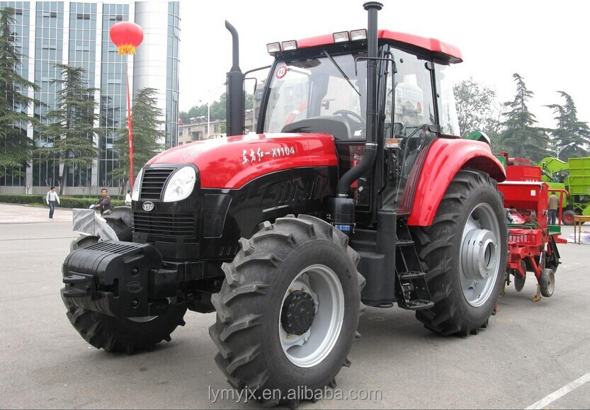 Chinese Famous Brand Agricultural Tractor YTO X1104 Wheel Tractors Hot Sale