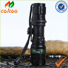 18650 led strong light flashlight infinite zoom Q5 tactics Long shots rechargeable flashlight
