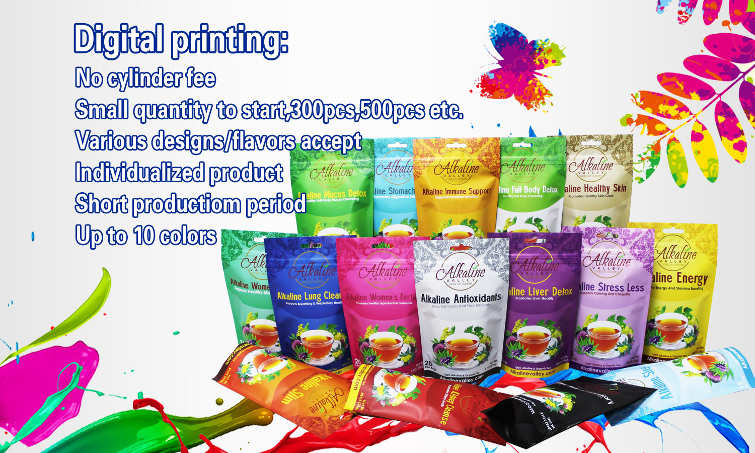 Digital Pouchdigital Print Food Package With Zipper For Product Vacuum Sealed Bag Pack Stand Up Pouch
