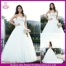 SD2186 ball gown corset back wedding dress puffy muslim wedding gown pictures
