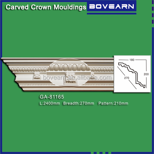 Wholesale crown molding /dental carved PU cornice molding