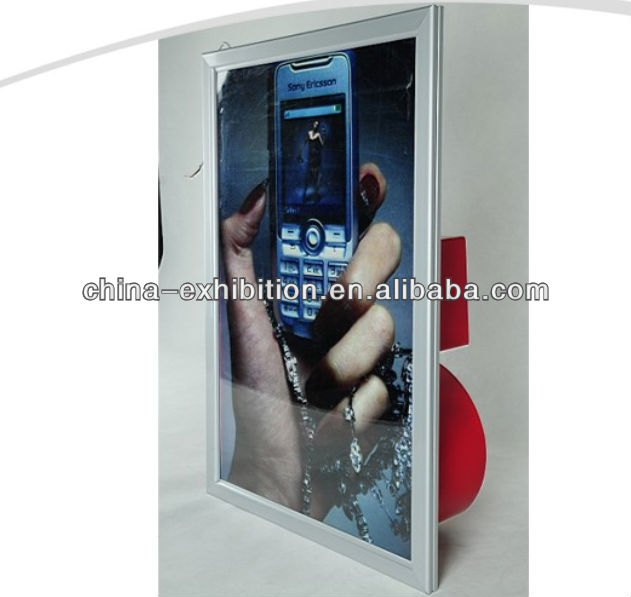 Advertising led color matching light box counter top display box