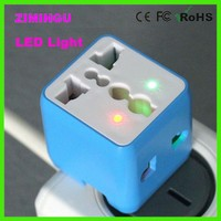 Universal Travel Adapter AC Power Charger All in One EU plug with LED light