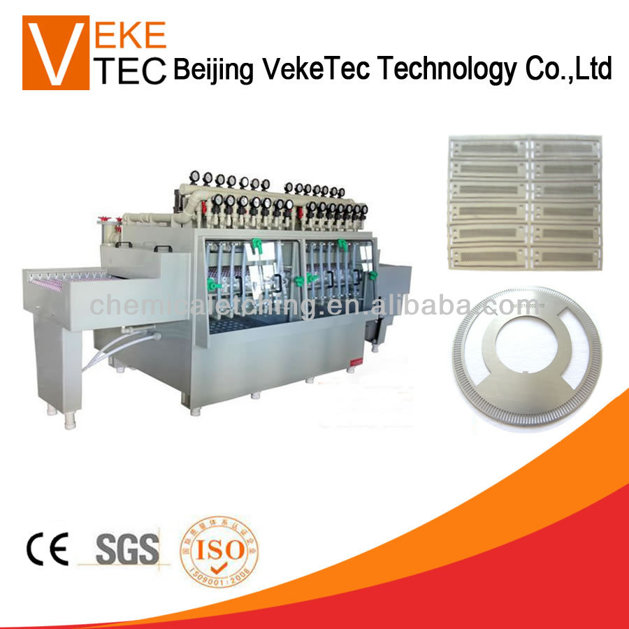 Electronic parts etching machine
