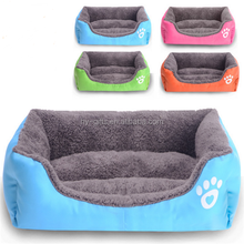 cute soft colorful small dog bed stock portable square bed for dog