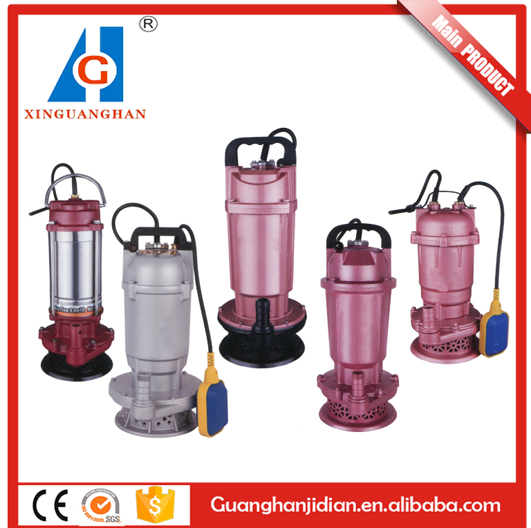 Low energy consumption high volume electric 0.5HP/0.75HP/1HP/1.5HP submersible water pump for agriculture
