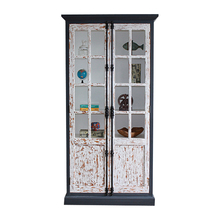 Wholesale rustic furniture living room glass display cabinet design