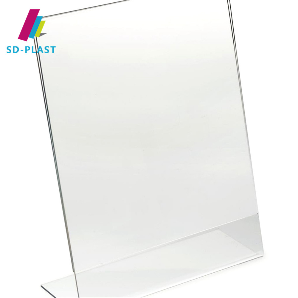 Transparent Acrylic Menu Holders , Acrylic Table Menu Display Holder , 1156 Paper size 89*127mm