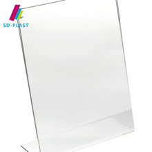 Transparent Acrylic Menu Holders Acrylic Table Menu Display Holder Paper size 89*127mm