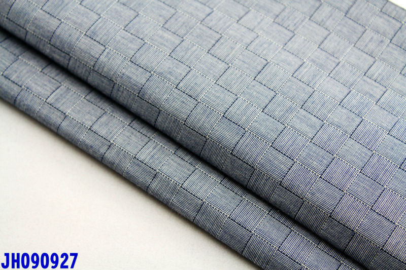 shirt fabric woven 45s tc polyester cotton 65/35 poplin yarn dye checked plaid plain shirting fabrics grey summer fabric