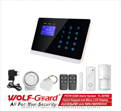 Brand new 2015 dual network alarm system with GSM and PSTN contact ID Ademco--YL-007M2