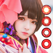 with free contact lens case wholesale OEM halloween red contact lenses crazy color contact lens