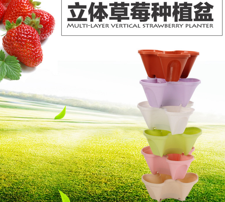 PP plastic materials Strawberry vertical gardening hydroponics tower pots