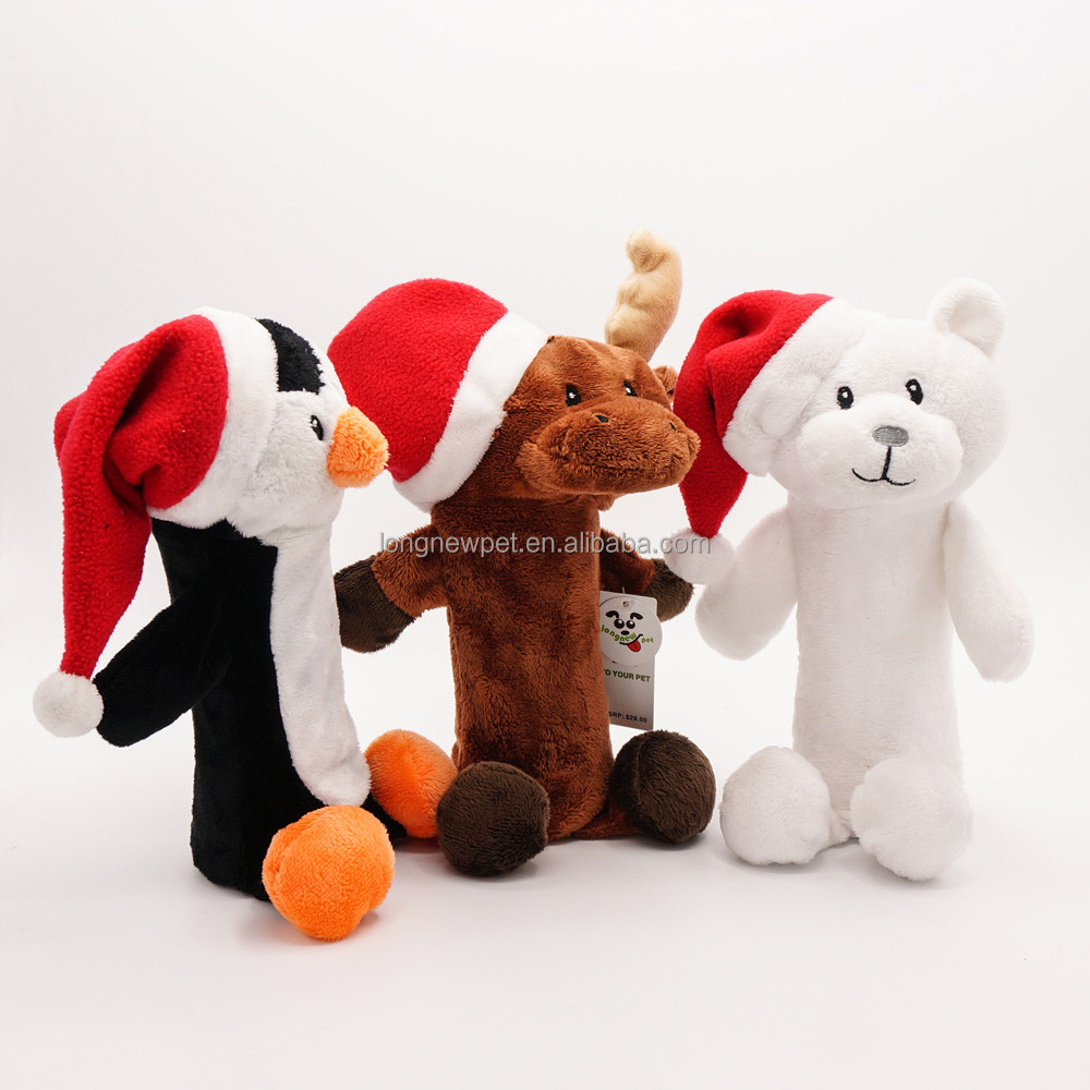 Christmas Pet Toy Eco Friendly Plush Dog Toy without Stuffing