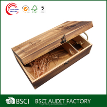 Custom cheap wooden wine boxes wholesale for 2 bottles