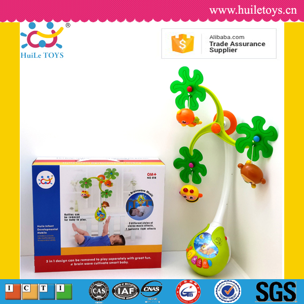 2016 Huile Toys baby musical mobile toys with light