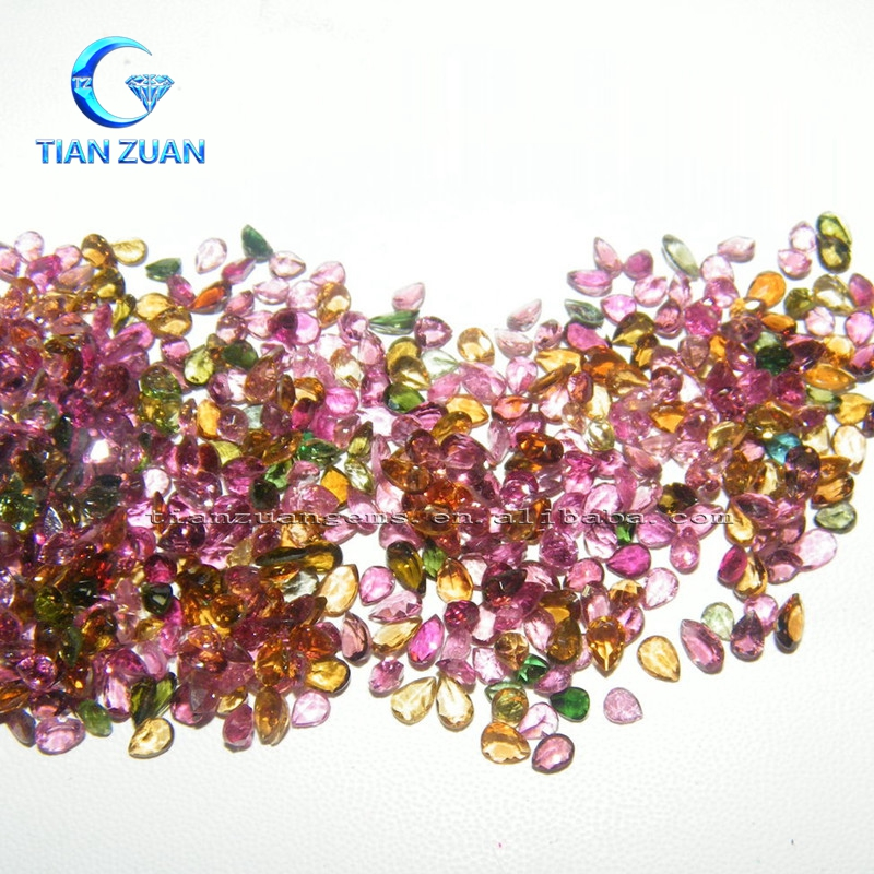 The raw natural stone precious rubellite rough stone various shape for jewelry making