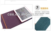 New Arrival Vintage Fashion Carpet PU Leather Stand Case For Apple iPad 2 3 4