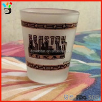 Houston Texas White Color Custom Logo Printing 50ml Frosted Glass Shots