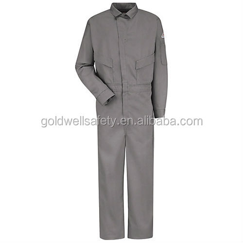 100% cotton safety fr workwear uniform coverall for industrial using