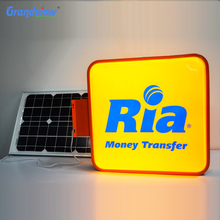 Outdoor advertising solar powered led sign board