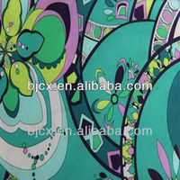 polyester&cotton mixed woven textile fabric printed designs
