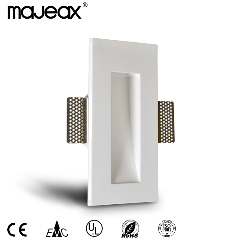 decorative Gypsum Plaster modern 1W led wall light
