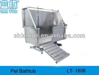 Stainless steel dog bathtubs