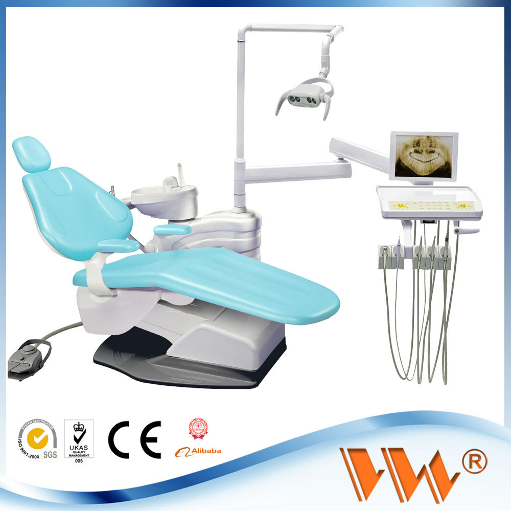 dental investment materials with dentist assistant stool