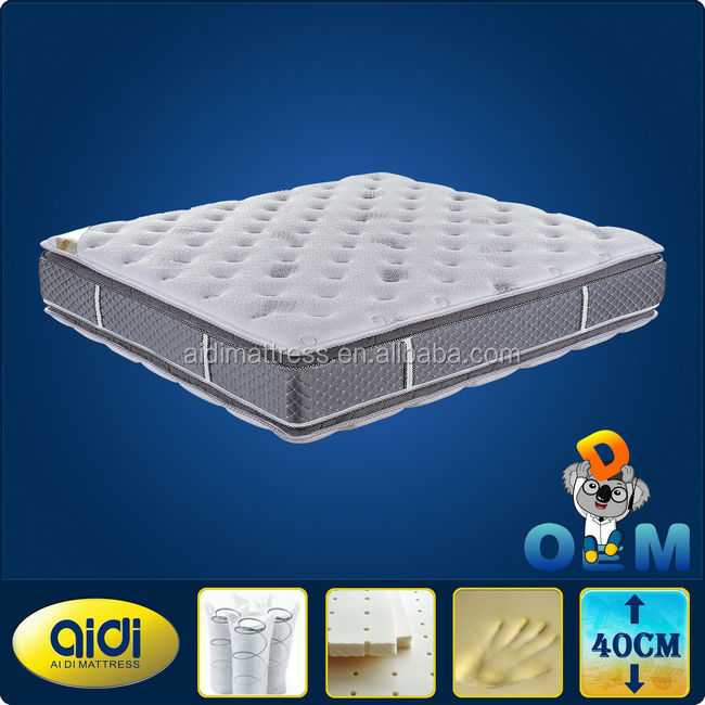 Queen Mattress,Luxury Comfortable Pillow Top Queen Size Mattress,Double Pillow Top Queen Mattress - Jozy Mattress | Jozy.net