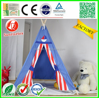 Hot sale breathable wood children teepee tent, tipi tent
