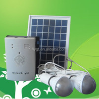 long working time 5W mini solar system with mobile charger