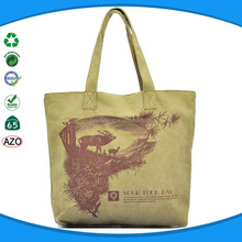 Wholesales fashion natural canvas tote bag with gusset
