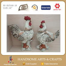 10 Inch Indoor Ceramic Decorative Colorful Rooster Statue