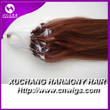 Quality red micro beads hair extension