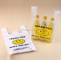new design fashion 100% biodegradable plastic t-shirt shopping bag on roll
