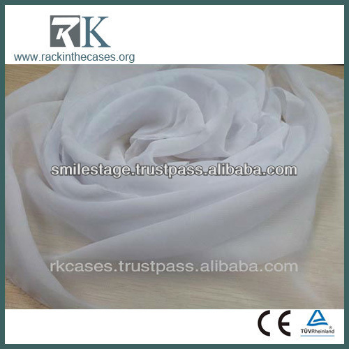 100 polyester chiffon drapery fabric wholesale
