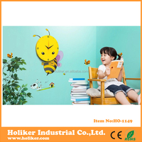 3D sticker decorative pictures of animals wall clock for kids room decor