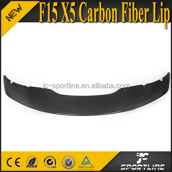 M Style F15 X5 Carbon Fiber Front Bumper Lip Spoiler for BMW F15 X5 M Tech