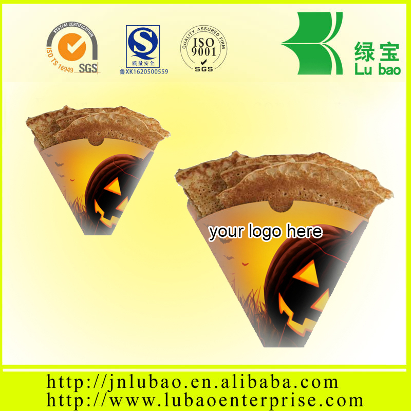 customized printed cardboard paper crepe cone food bag