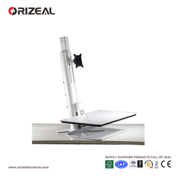 Orizeal height adjustable monitor stand, desk monitor stand, sit stand workstation (OZ-OMM020)