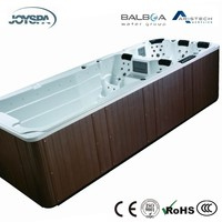 Massage Men Sex Whirlpool Large Outdoor Swim Spa with Pop-up TV JY8601