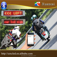 12Volt Bluetooth Smart mobile phone APP with Auto Brake /Turn signal message BT1272 Bluetooth Motorcycle LED car display sign