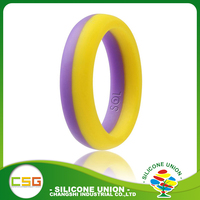 Hot selling colorful silicone finger o ring