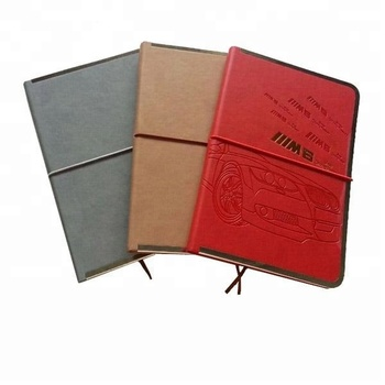 2018 newest thermo PU cover diary and notebook with full logo debossed