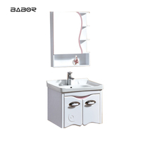 PVC bathroom closets cabinets hotel motel vanity thin white bathroom cabinet with hinged bathroom mirrors